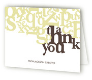 Standout Folded Thank You Card