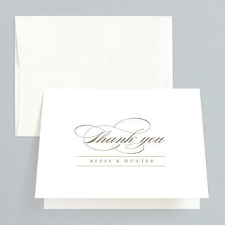 Valencay Folded Thank You Card