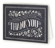 Alabaster Florals Folded Thank You Card