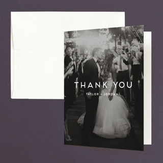 Modern Stamp Folded Thank You Card