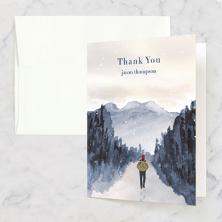 Peace of Quiet Folded Thank You Card