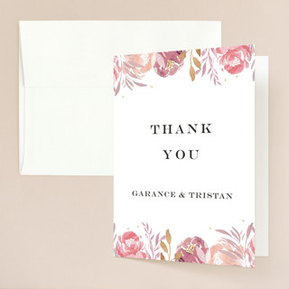 Grand Bloom Folded Thank You Card