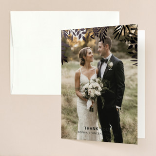 Garden Foil-Pressed Folded Thank You Card
