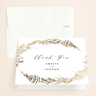 Fresh Vines Foil-Pressed Folded Thank You Card