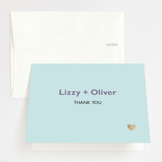 Destination Foil-Pressed Folded Thank You Card