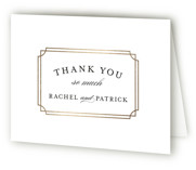 Luxe Border Foil-Pressed Folded Thank You Card