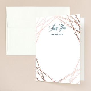 Starcrossed Foil-Pressed Folded Thank You Card