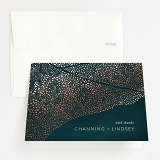 The Milky Way Foil-Pressed Folded Thank You Card