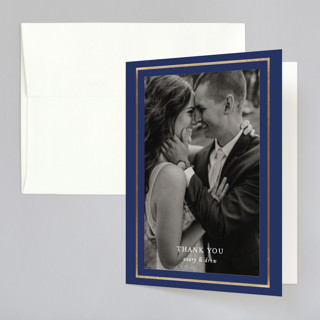 Classic Ampersand Foil-Pressed Folded Thank You Card