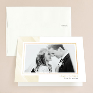 Love Never Fails Foil-Pressed Folded Thank You Card