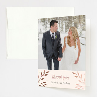 Vineyard Foil-Pressed Folded Thank You Card