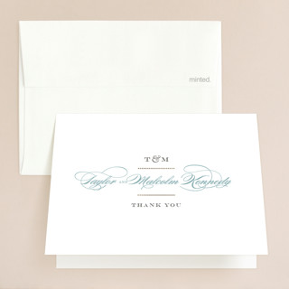 Charming Go Lightly Foil-Pressed Folded Thank You Card