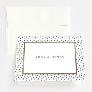 West Village Foil-Pressed Folded Thank You Card