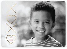 Foiled XO Foil-Pressed Valentine Cards