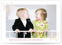 Big XO Foil-Pressed Valentine Cards