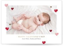 stampy heart Foil-Pressed Valentine Cards