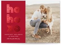 HO, HO, XO Foil-Pressed Valentine Cards