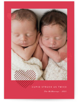 Twin Love Foil-Pressed Valentine Cards