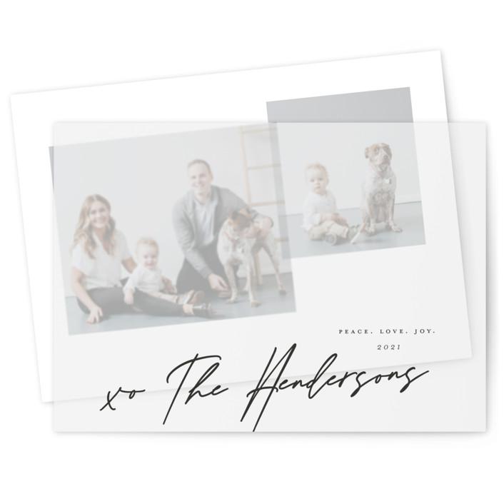 Snapshots Vellum Overlay Holiday Cards