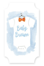 Bow Tie Baby Baby Shower Stickers