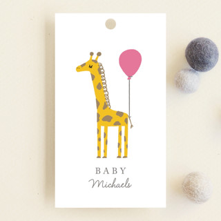Mama and Baby Giraffe Baby Shower Favor Tags