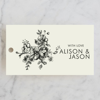 Elegance Illustrated Wedding Favor Tags