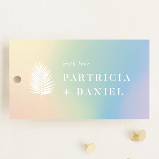 Sunset by the Sea Wedding Favor Tags