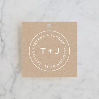 Modern Stamp Wedding Favor Tags