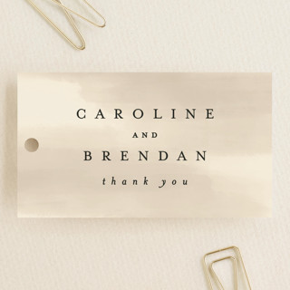 Painted Frame Wedding Favor Tags
