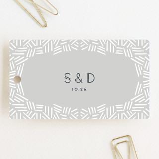 Confetti Frame Wedding Favor Tags