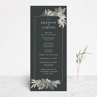 Fern Frame Gloss-Press™ Wedding Programs