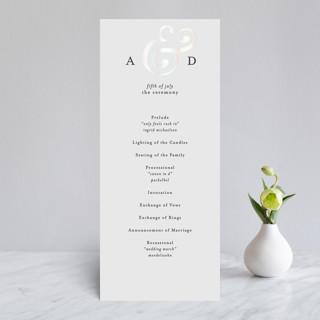 Classic Ampersand Gloss-Press® Wedding Programs