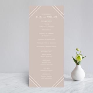 Radiant Frame Gloss-Press™ Wedding Programs