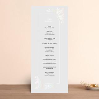Garden Gloss-Press® Wedding Programs