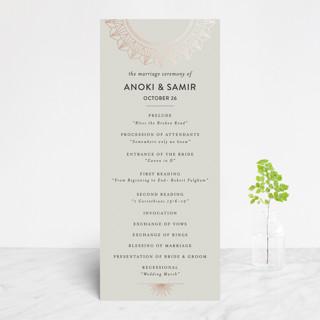 mandala Foil-Pressed Wedding Programs