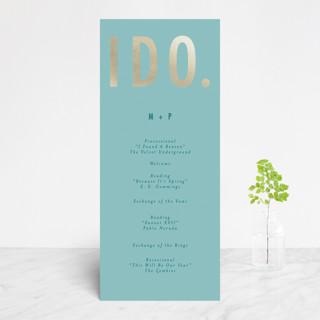 Oui Foil-Pressed Wedding Programs
