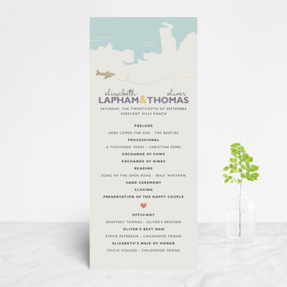 Destination Foil-Pressed Wedding Programs