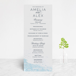 Classic Splash Foil-Pressed Wedding Programs