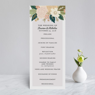Classic Floral Foil-Pressed Wedding Programs