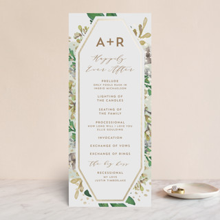 Bohemian Beauty Foil-Pressed Wedding Programs