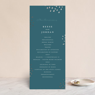 Modern Muse Foil-Pressed Wedding Programs