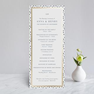West Village Foil-Pressed Wedding Programs
