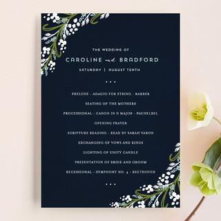 Midnight Floral Wedding Programs