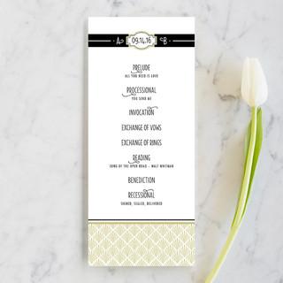 Ascot Chic Wedding Programs