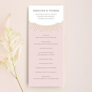 Modern Deco Wedding Programs