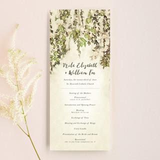 English Countryside Wedding Programs