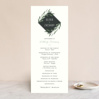 Oliviers Wedding Programs