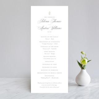 Hacienda Wedding Programs