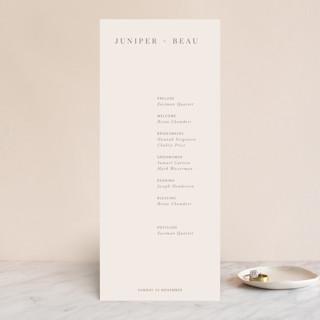 Juniper Wedding Programs