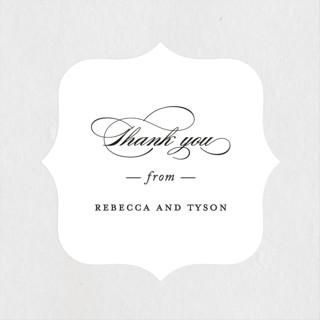 Eloquence Wedding Favor Stickers